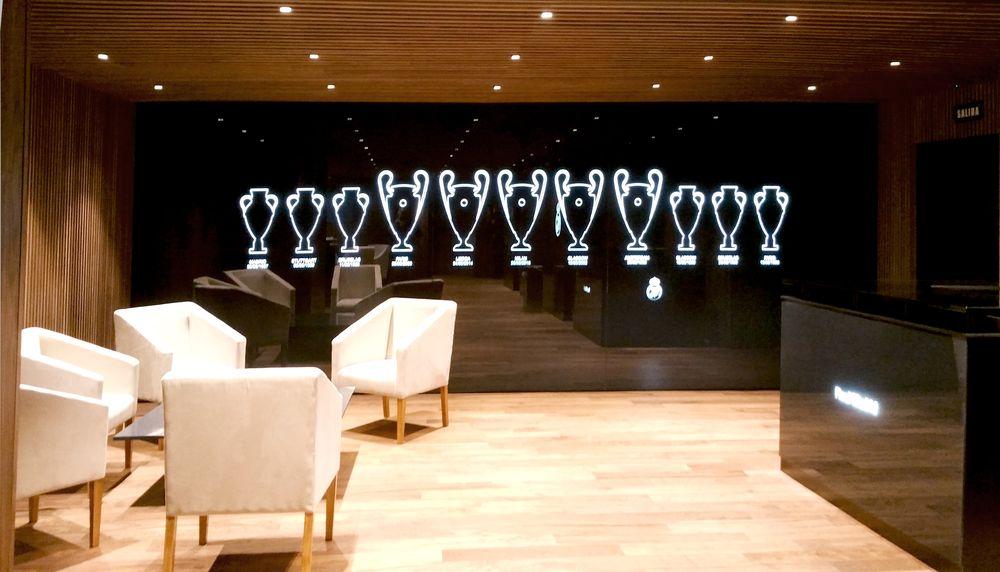 Sala de Autoridades y Cuarto del Rey del Estadio Santiago Bernabéu