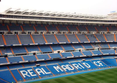 Actuaciones en el Estadio Santiago Bernabéu.
