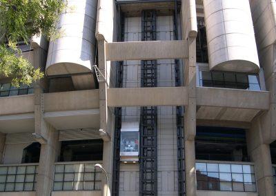 Ascensores panorámicos en el Estadio Santiago Bernabéu