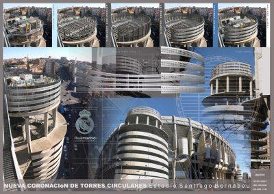Coronación de Torres Circulares. Santiago Bernabéu