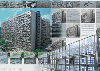 Propuesta de renovación de fachada del Hotel Meliá Castilla. Madrid