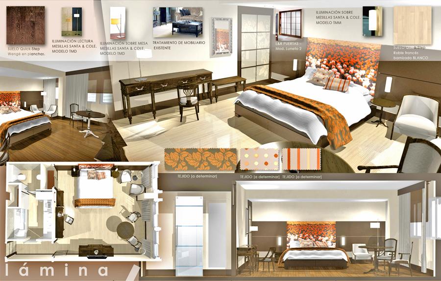 Estudio de interiorismo de habitaciones de hotel en Madrid