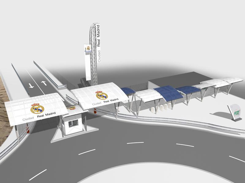 Acceso rodado y peatonal a la ciudad del real madrid for Telefono oficinas real madrid