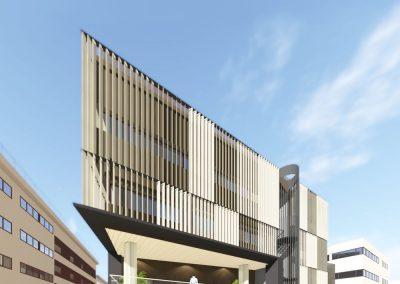 Opciones de diseño de fachadas de edificio de oficinas