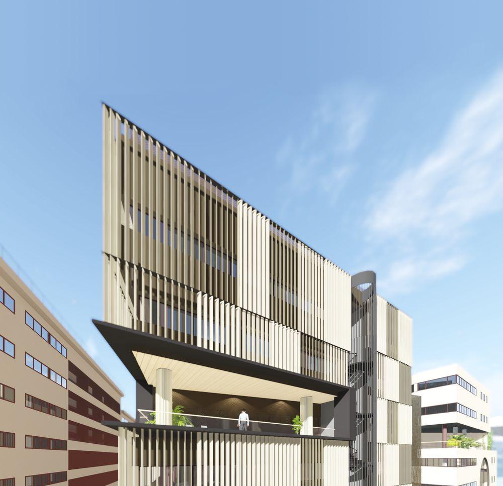 Opciones de dise o de fachadas de edificio de oficinas for Edificio oficinas
