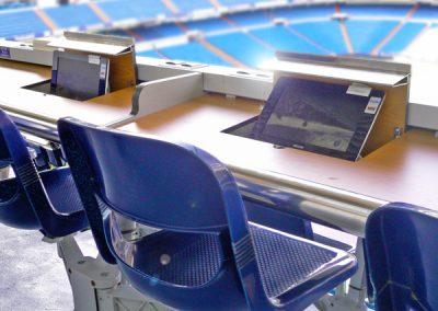 Grada de Prensa en el Santiago Bernabéu