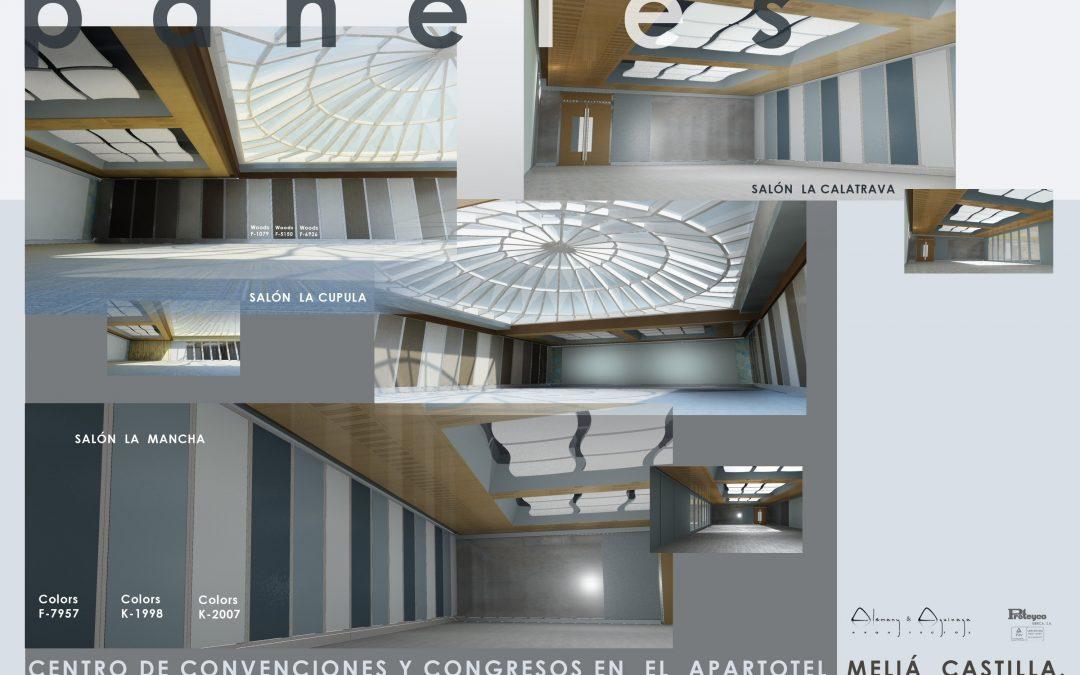 Centro de convenciones y congresos en el Hotel Meliá Castilla. Madrid.